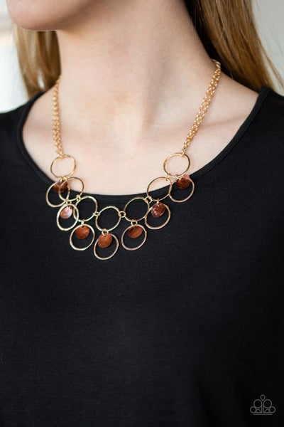 Ask and You SHELL Receive - Brown Necklace
