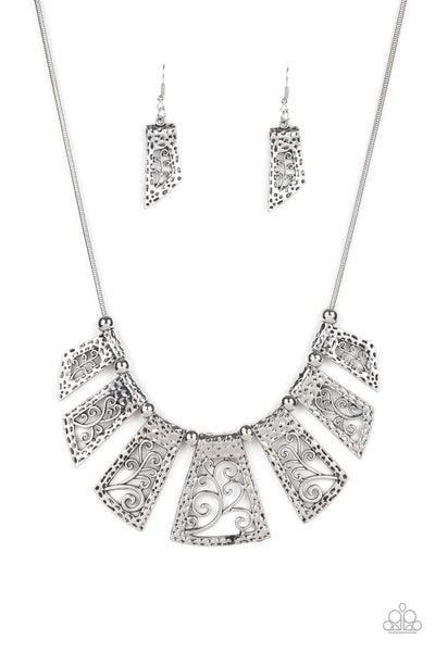 Vintage Vineyard - Silver Necklace