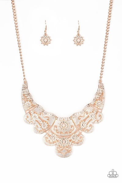 Mess With The Bull - Rose Gold Necklace