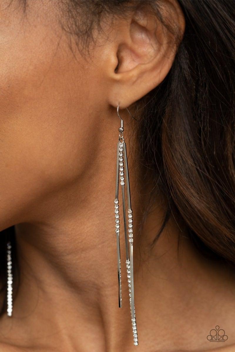 Dainty Dynamism - White Earring