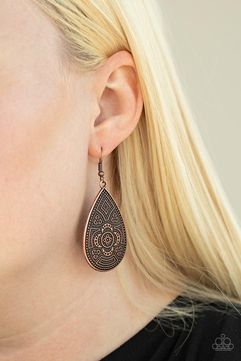 Tribal Takeover - Copper Earring