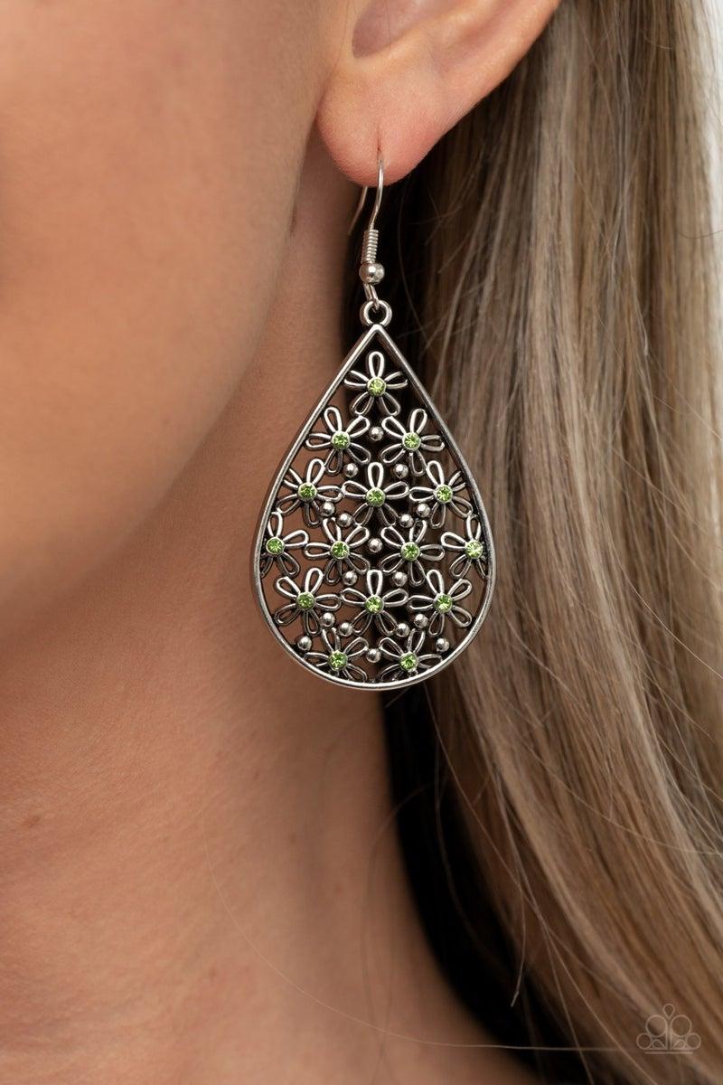 Tick, Tick, BLOOM! - Green Earrings