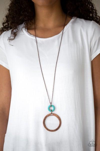 Optical Illusion - Copper Necklace