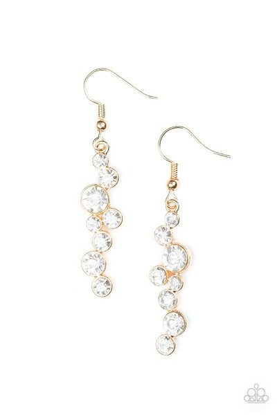 Milky Way Magnificence - Gold Earring