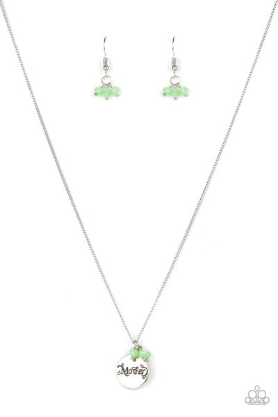 Warm My Heart - Green Necklace