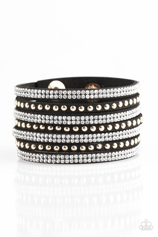 Victory Shine - Black and gold bracelet