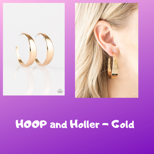 HOOP and Holler - Gold Earring