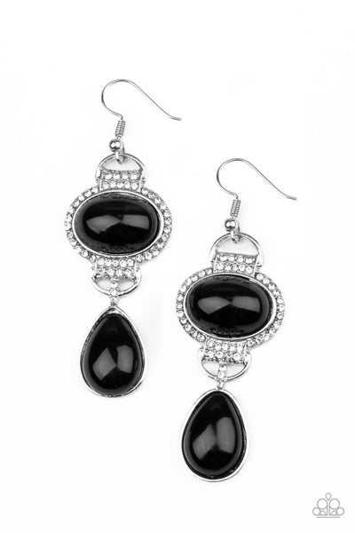 Icy Shimmer - Black Earring