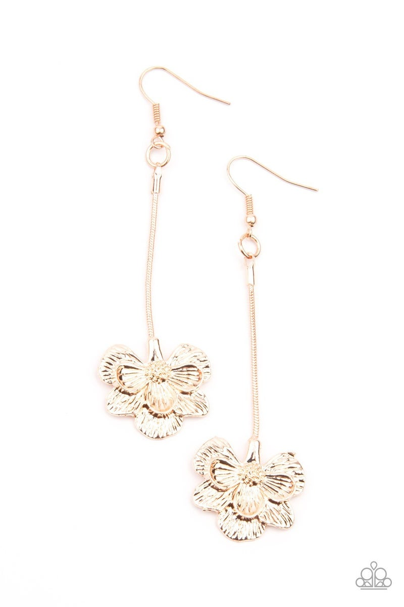 Opulently Orchid - Rose Gold Earring
