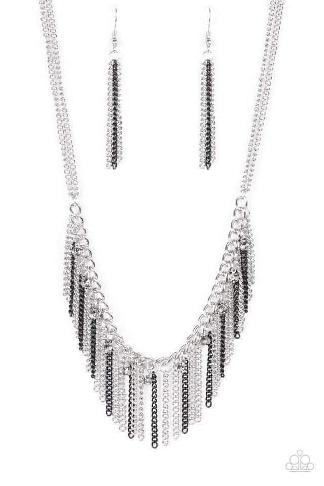 Retro Edge - Black Necklace