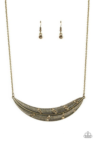 Say You QUILL - Brass Necklace