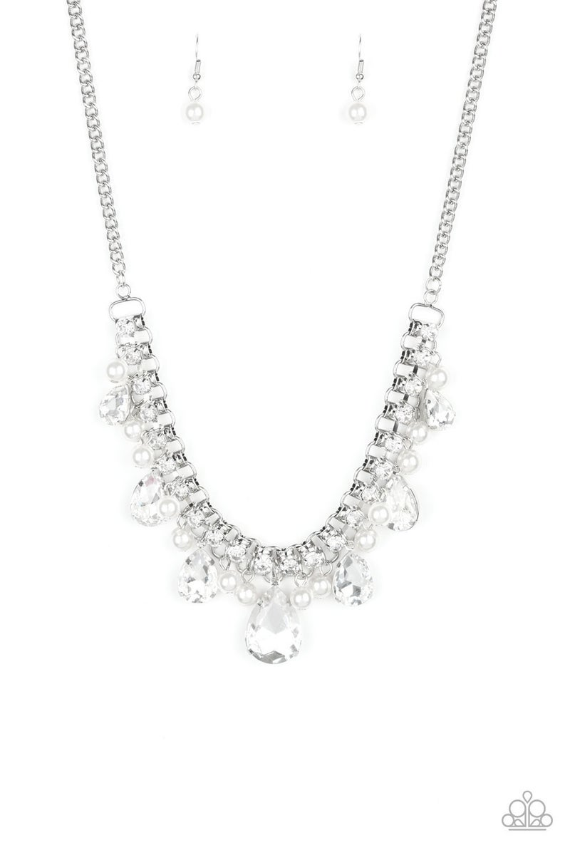 Knockout Queen - White Necklace