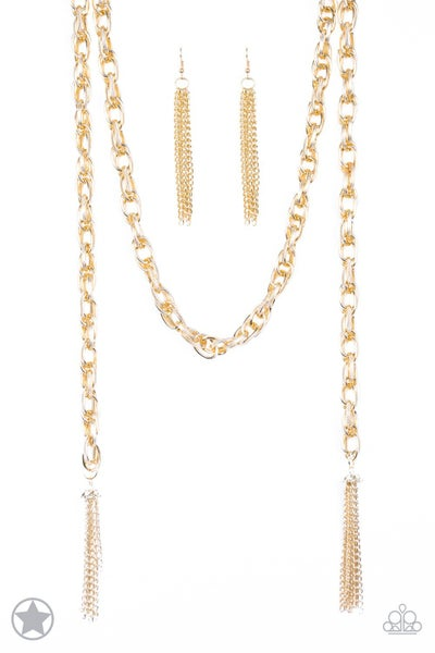 SCARFed for Attention - Gold Necklace