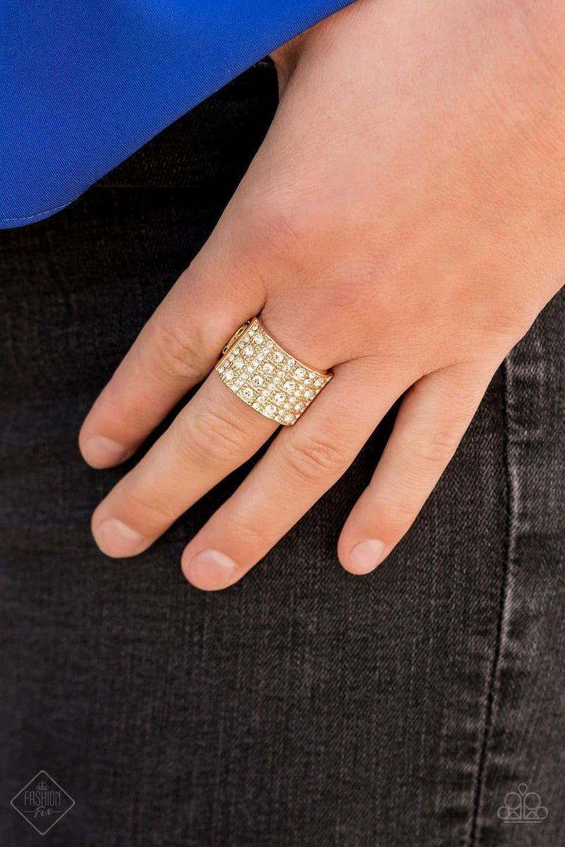 Diamond Drama - Gold Ring