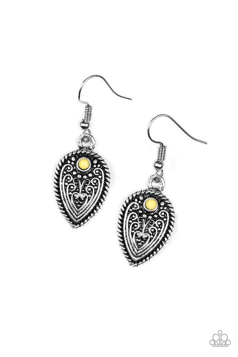 Distance PASTURE - Yellow Earring