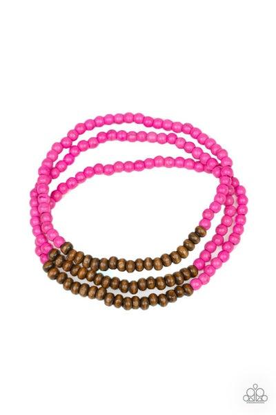 Woodland Wanderer - Pink Bracelet