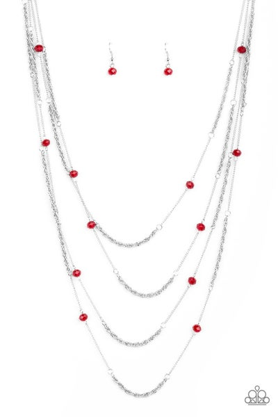 Open For Opulence - Red Necklace