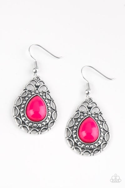 Flirty Finesse - Pink Earring
