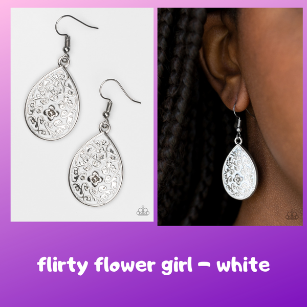 Flirty Flower Girl - White