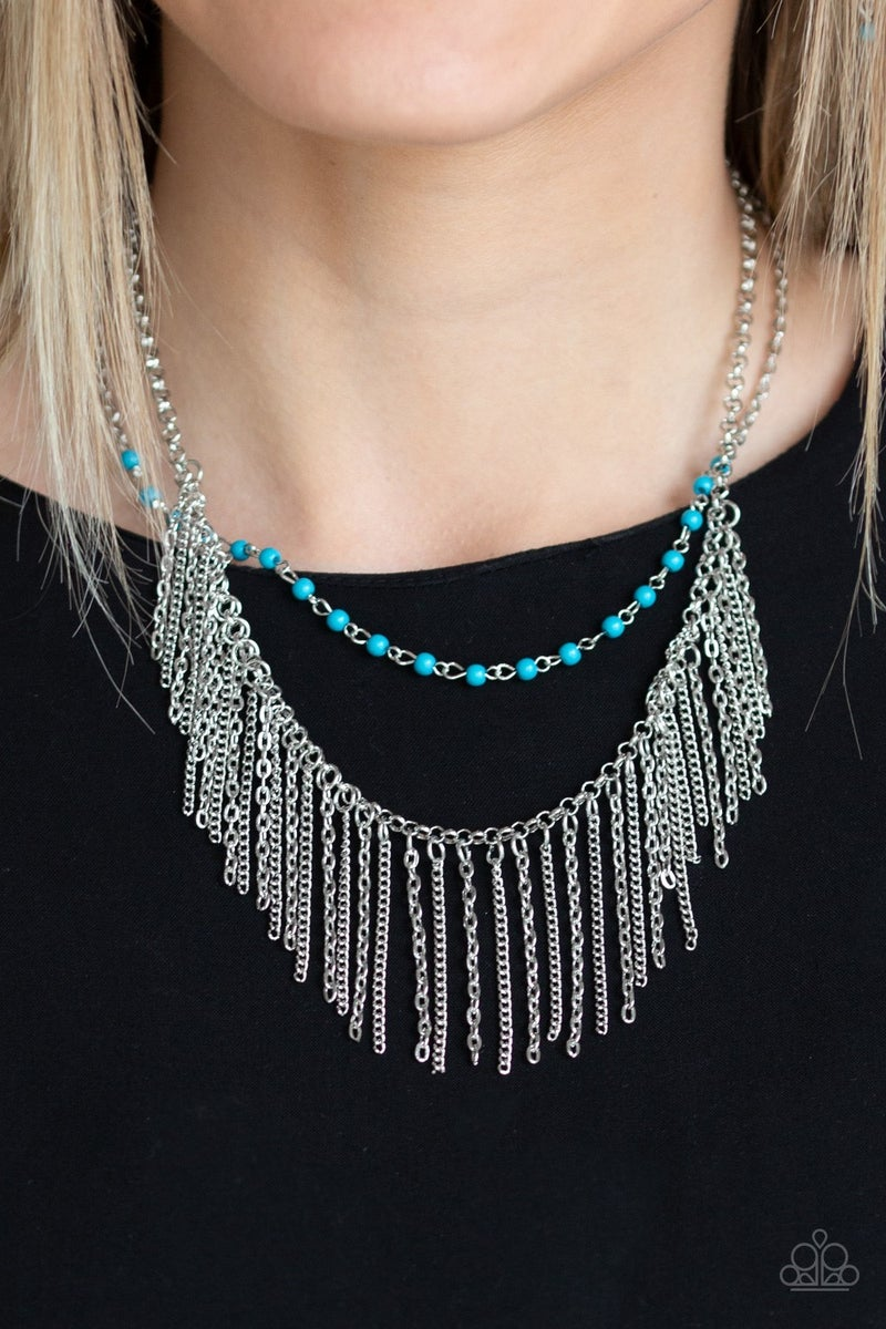 Fierce In Fringe - Blue