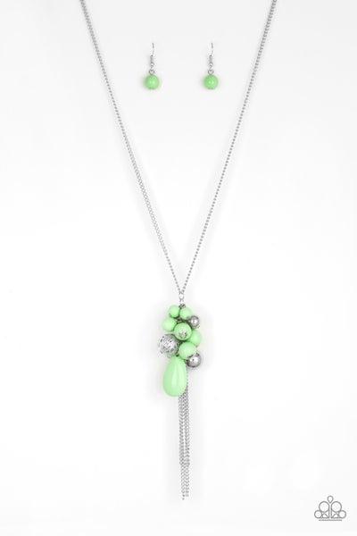 Its A Celebration - Green Necklace