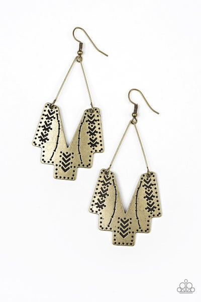 Arizona Adobe - Brass Earring