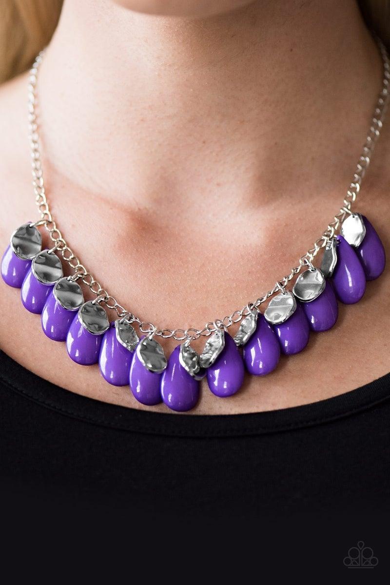 Tropical Storm - Purple Necklace