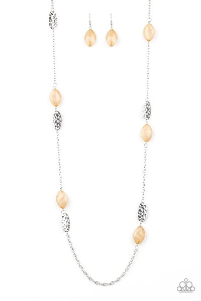 Beachfront Beauty - Brown Necklace