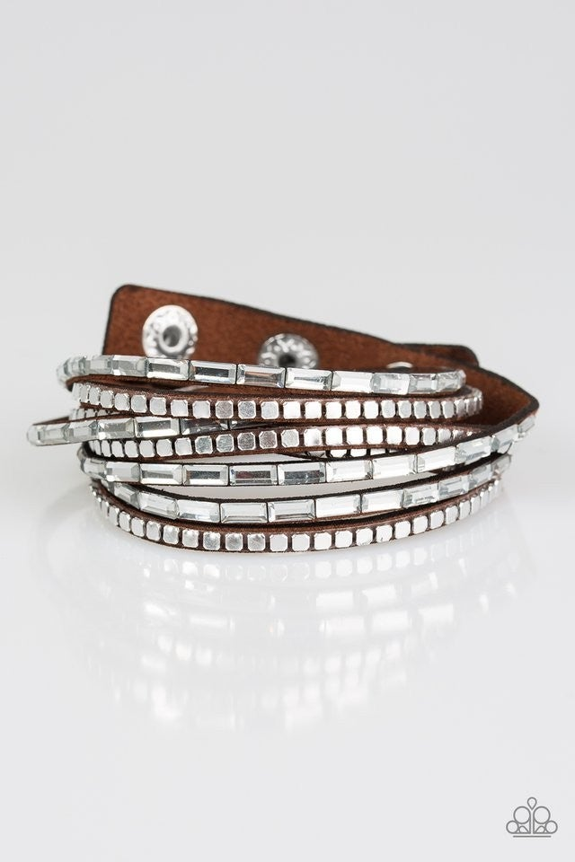 This Time With Attitude - Brown Bracelet