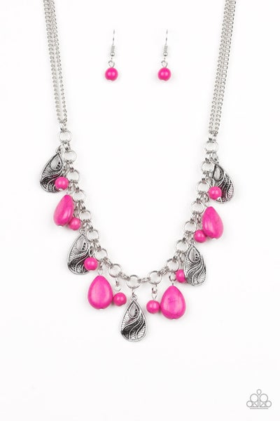 Terra Tranquility - Pink Necklace