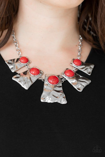 Cougar - Red Necklace
