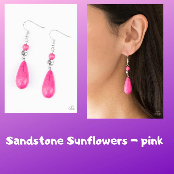 Sandstone Sunflowers - Pink