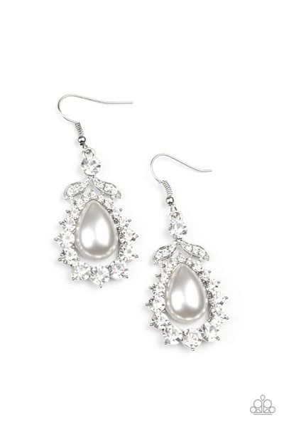 Award Winning Shimmer - White Earring