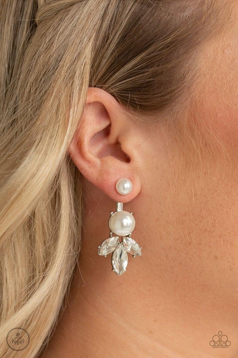 Extra Elite - White Earrings