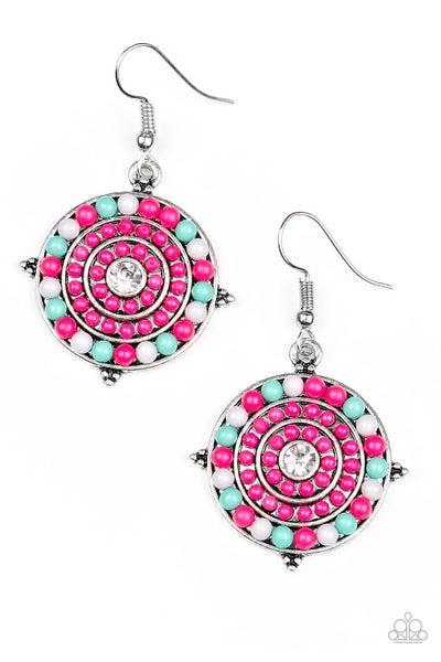 Caribbean Cruzin - Pink Earring