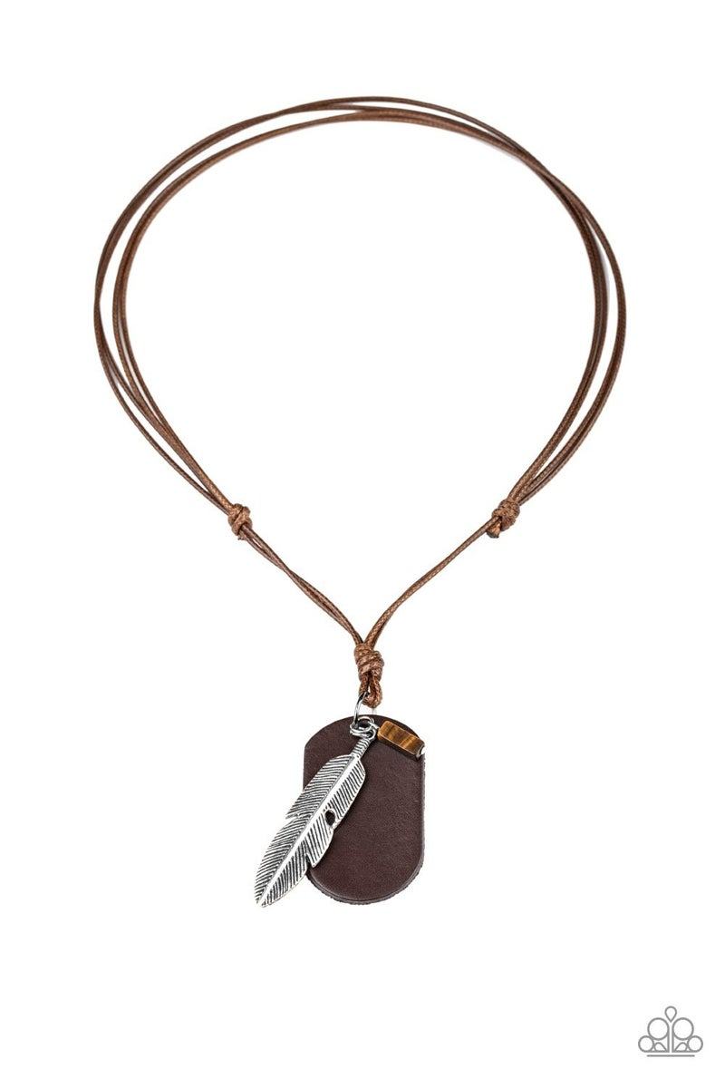 Flying Solo - Brown Necklace
