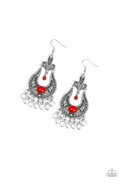 Fiesta Flair - Red earrings