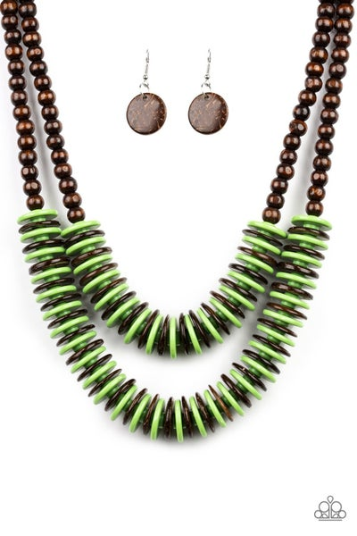 Dominican Disco - Green Necklace