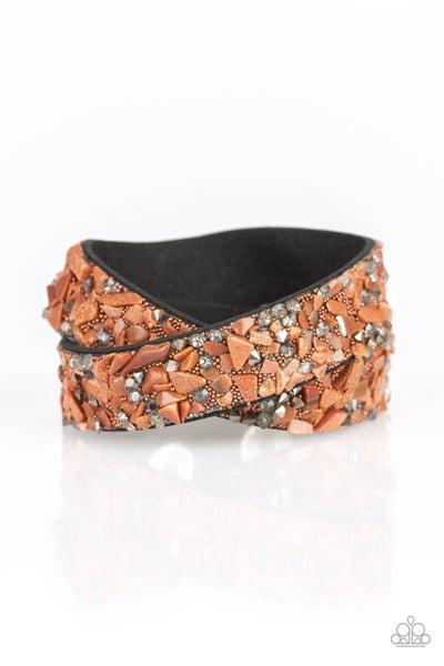 CRUSH Hour - Brown Bracelet