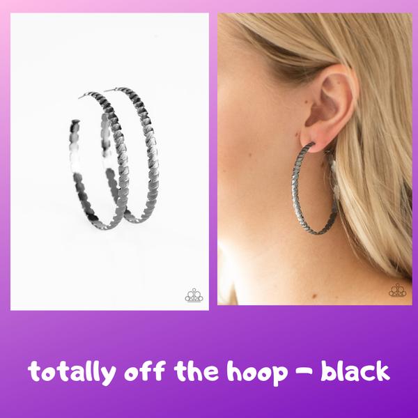 Totally Off The HOOP - Black Earring