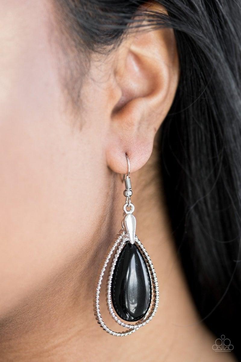 Spring Splendor - Black Earrings