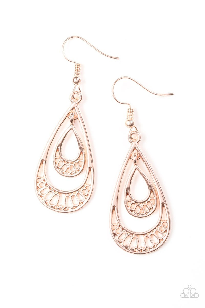 REIGNed Out - Rose Gold Earrings