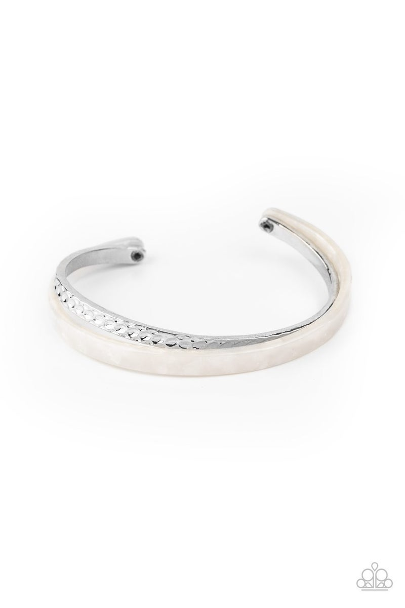 HAUTE On The Trail - White Bracelet