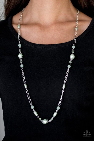 Magnificently Milan - Green Necklace