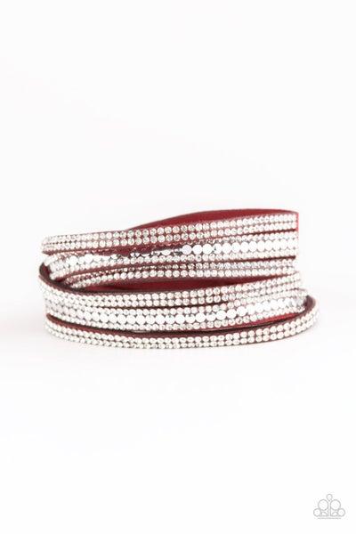 Rock Star Attitude - Red Bracelet