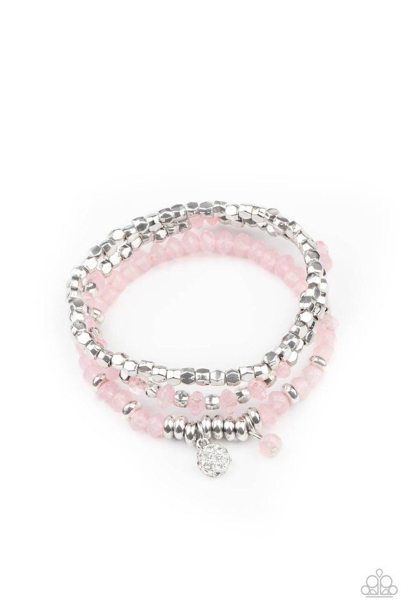 Glacial Glimmer - Pink Bracelet