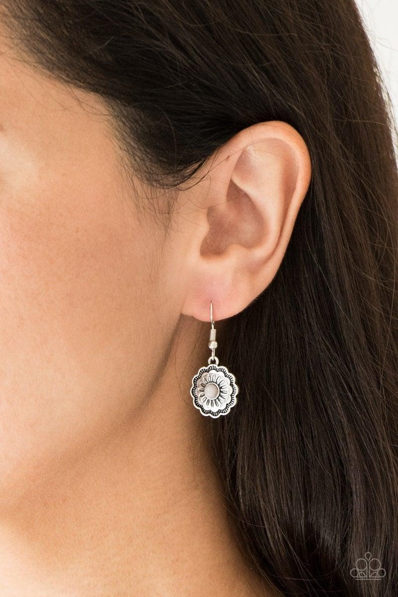 Badlands Buttercup - Silver Earring