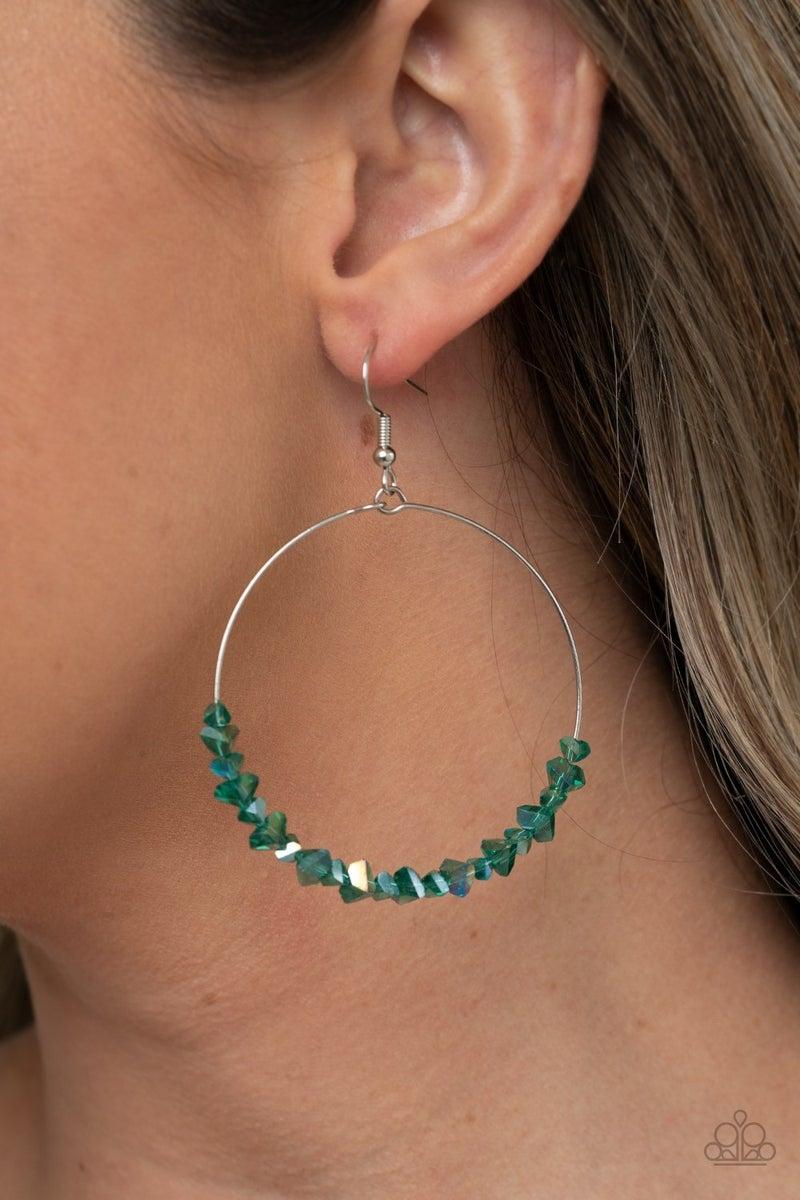 Glimmering Go-Getter - Green Earring