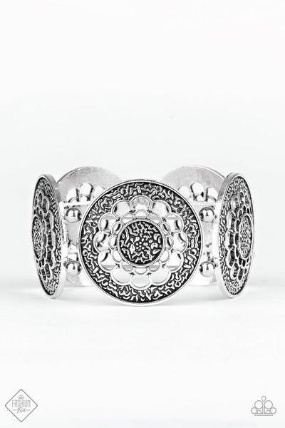 Maigold Medallions - silver bracelet