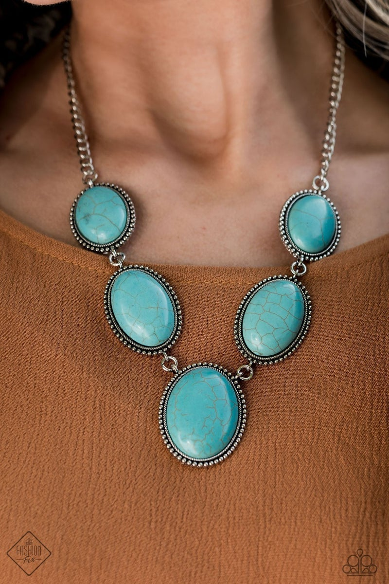 River Valley Radiance - Blue Necklace